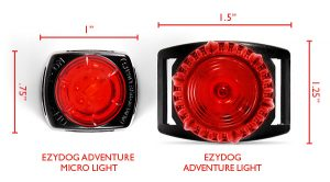 Dog Collar Lights in two sizes
